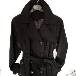 Calvin Klein Black Classic Trench Coat